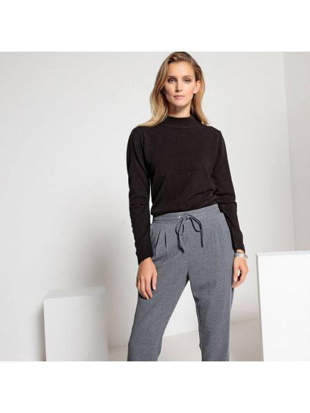 Пуловер в рубчик с воротником-стойкой Anne Weyburn