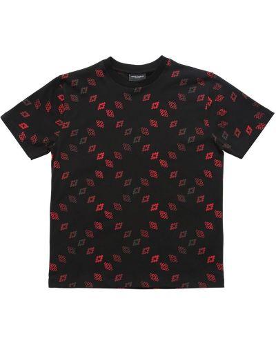 Czarny t-shirt z printem Marcelo Burlon County Of Milan