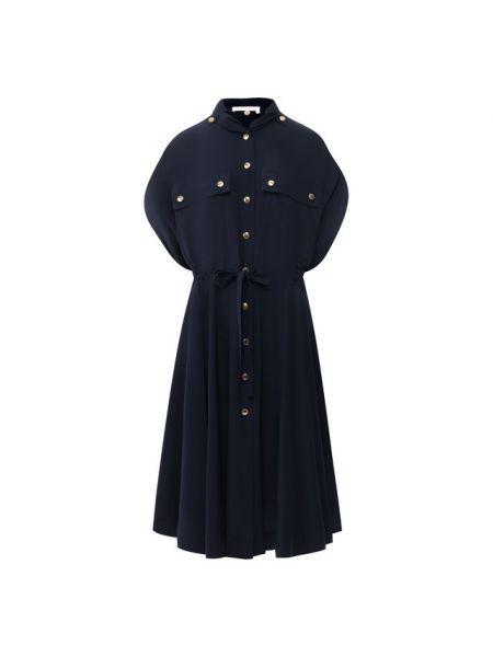 Вечернее платье с поясом платье-рубашка Chloé