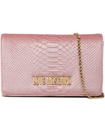 Torebka elegancka - różowa Love Moschino