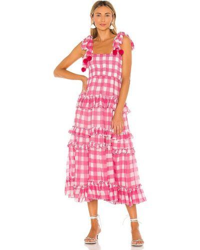 Розовое платье из вискозы с подкладкой Sundress