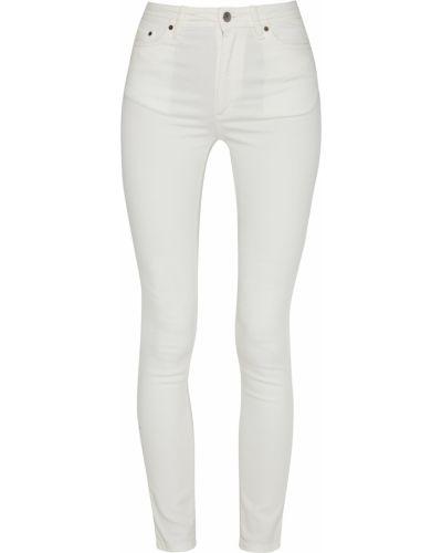 С завышенной талией белые джинсы-скинни с карманами Acne Studios