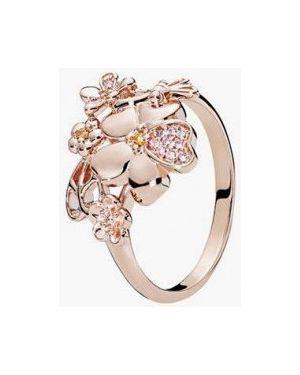 Кольцо из золота розовый Pandora