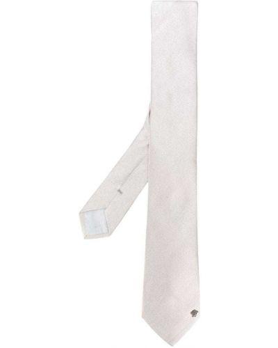 Бежевый галстук шелковый Versace