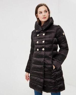 Теплая черная утепленная куртка Madzerini