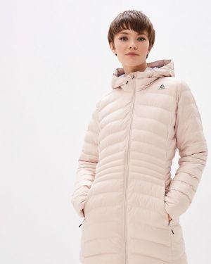 Утепленная куртка осенняя розовая Reebok