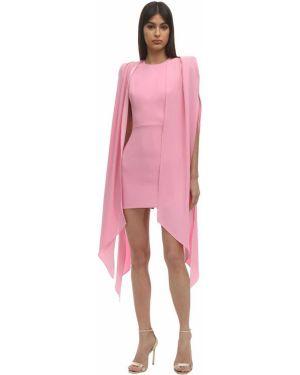 Приталенное розовое платье на молнии с драпировкой Alex Perry