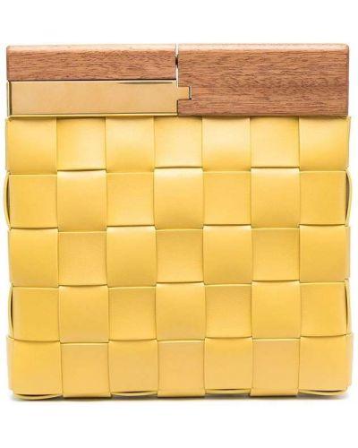Żółta złota kopertówka Bottega Veneta