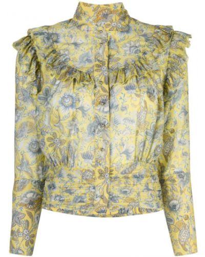 Желтая блузка с воротником Robert Rodriguez Studio