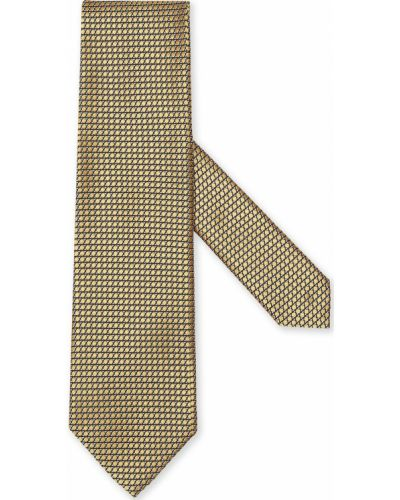 Krawat z jedwabiu - czarny Ermenegildo Zegna