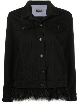 Хлопковая черная джинсовая куртка с воротником Simonetta Ravizza