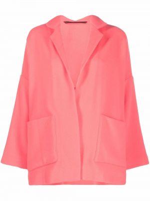 Розовое пальто с потайной застежкой Daniela Gregis