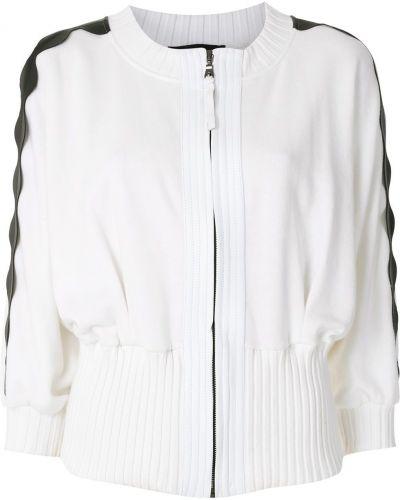 Хлопковая белая куртка на пуговицах Andrea Bogosian