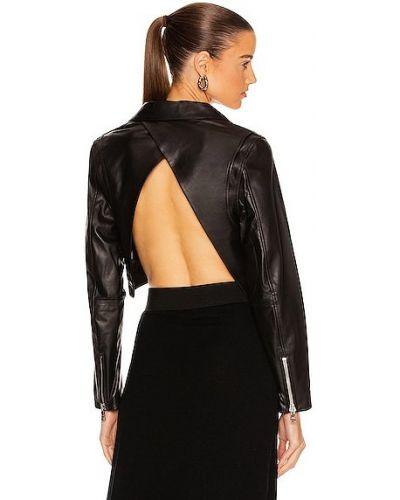 Черная кожаная куртка на молнии Rta