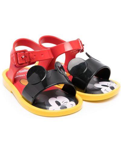 Открытые черные сандалии с пряжкой Mini Melissa