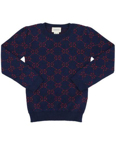 Sweter żakard ażurowy Gucci