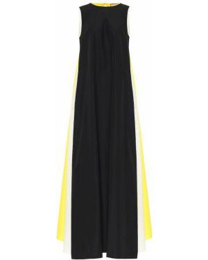 Платье макси из поплина желтый Plan C