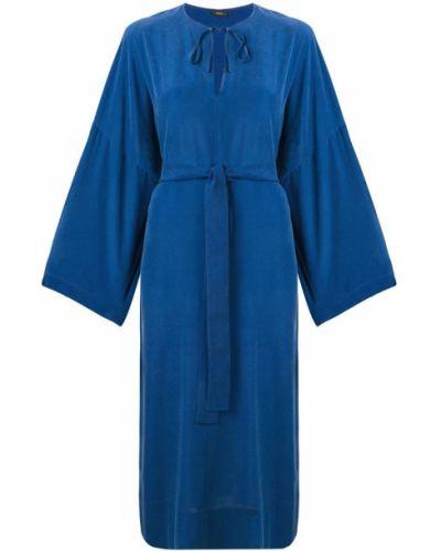 Платье с поясом на шнуровке с вырезом Joseph