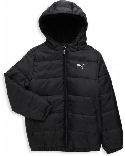 Черная длинная куртка для беременных с капюшоном Puma