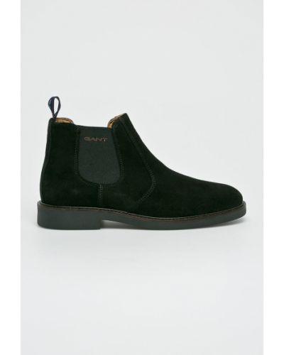 Кожаные ботинки высокие резиновые Gant