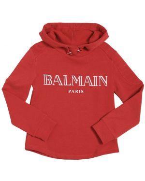 Свитшот с логотипом с капюшоном Balmain