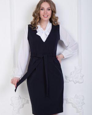 Классическое платье с капюшоном на молнии для офиса Diolche