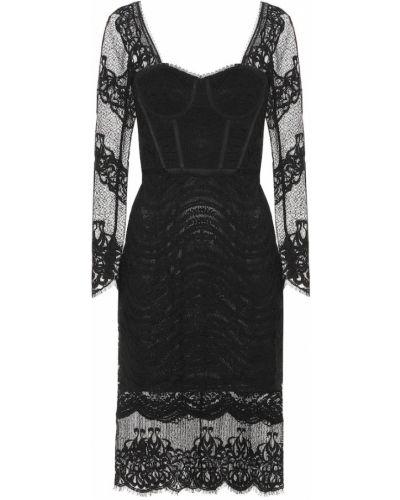 Платье миди с кружевными рукавами приталенное Jonathan Simkhai