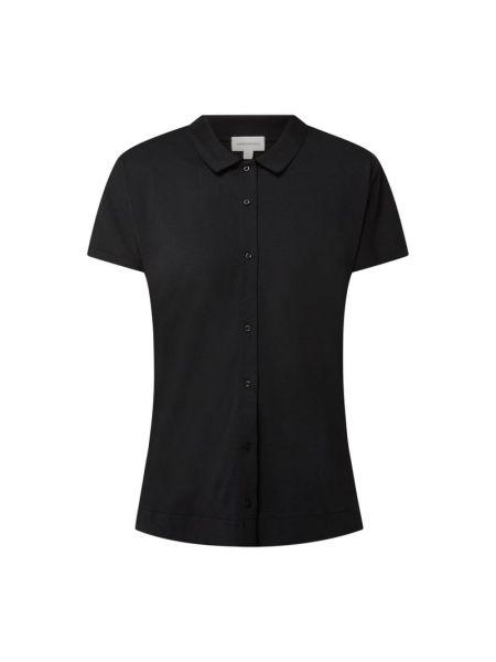 Czarna bluzka bawełniana Armedangels