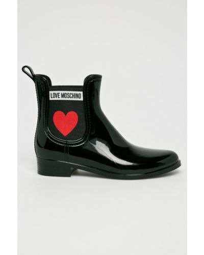 Черные резиновые сапоги Love Moschino