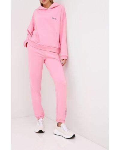 Хлопковый костюмный розовый костюм Seven Lab