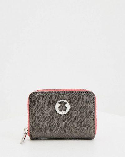 Кожаный кошелек - серый Tous
