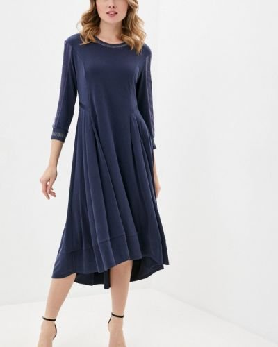 Прямое синее платье Anna Verdi
