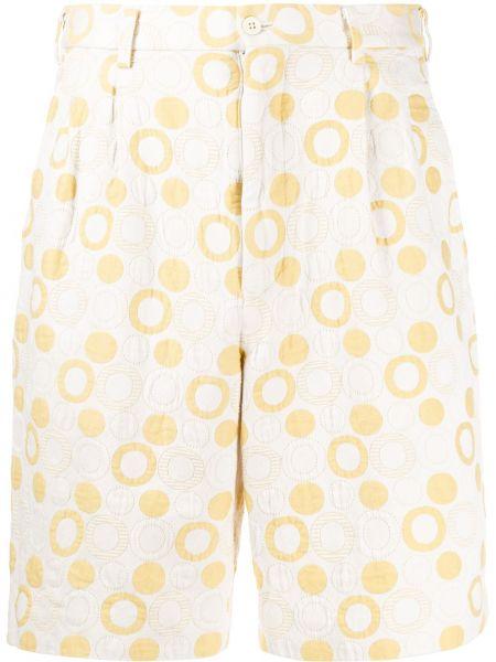Желтые хлопковые шорты с карманами Comme Des Garçons Pre-owned