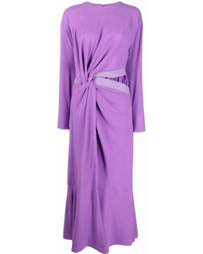 Платье миди с длинными рукавами - фиолетовое Stella Mccartney