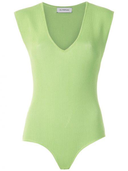 Боди без рукавов - зеленое Olympiah