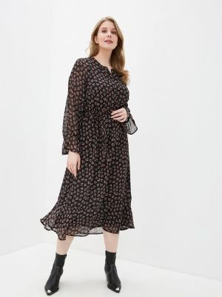 Повседневное платье черное весеннее Ulla Popken