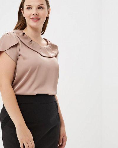 Бежевая блузка с коротким рукавом Sartori Dodici