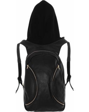 Кожаный рюкзак на молнии черный Alina German