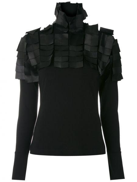 С рукавами черная блузка с длинным рукавом узкого кроя из вискозы Gloria Coelho