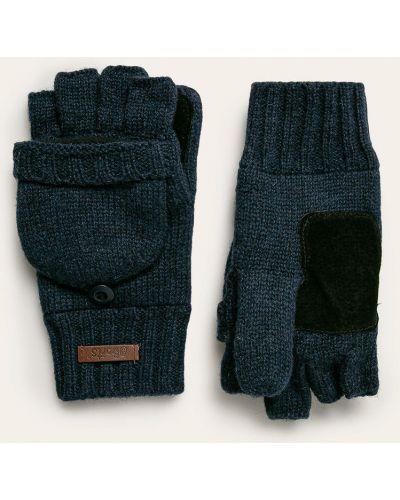 Перчатки шерстяные синие Barts