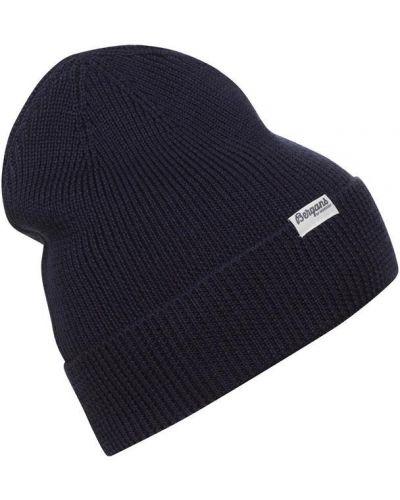 Шерстяная шапка бини - синяя Bergans