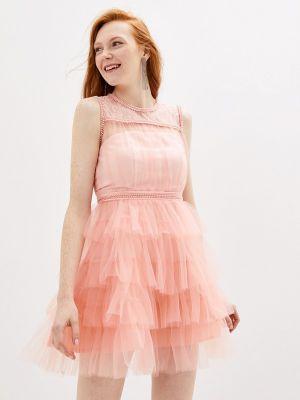 Вечернее платье коралловый красный Emilia Dell'oro