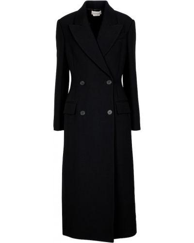 Черное кружевное пальто Alexander Mcqueen