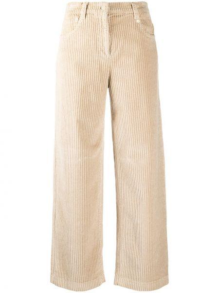 Классические брюки с завышенной талией - бежевые Incotex