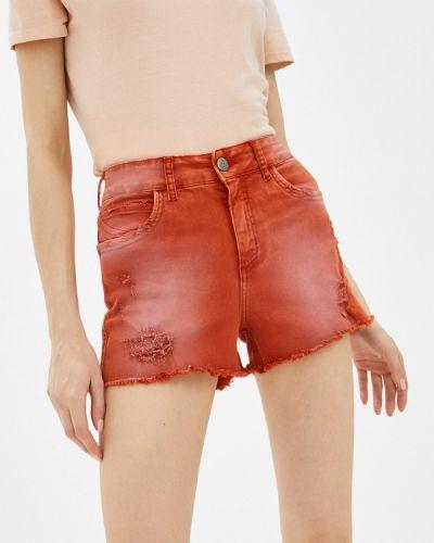 Оранжевые джинсовые шорты Colcci