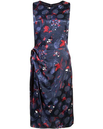 Платье миди приталенное с драпировкой Emporio Armani