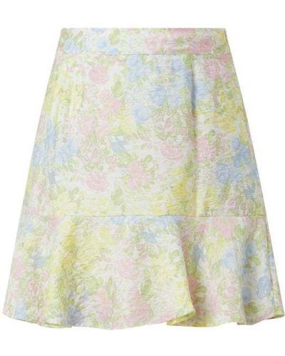 Spódnica mini rozkloszowana z falbanami z wiskozy Edited