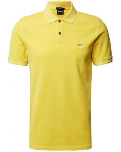 T-shirt bawełniana - żółta Boss Casualwear