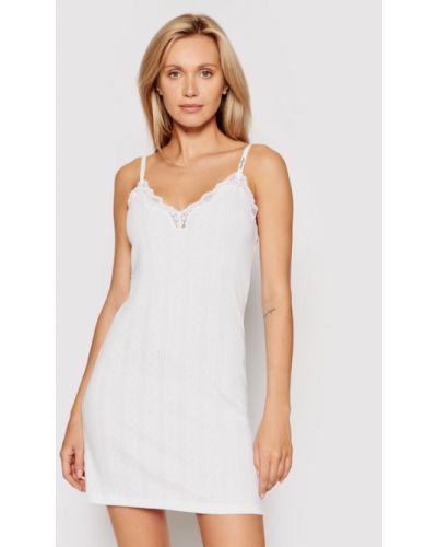 Biała koszula nocna Tommy Hilfiger