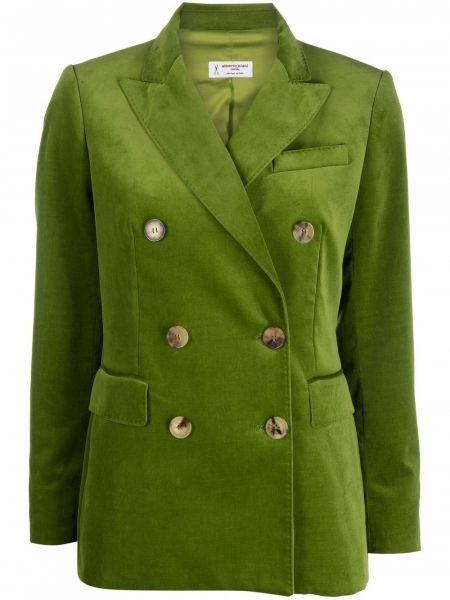 Бархатный удлиненный пиджак двубортный для полных Alberto Biani